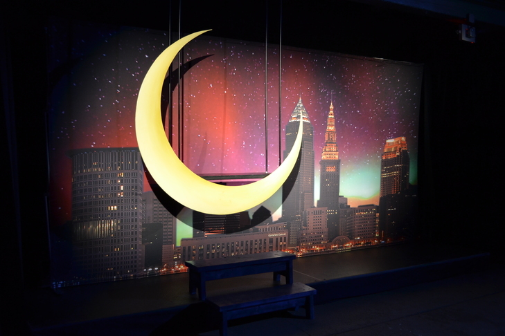 Cleveland Skyline Moon Swing